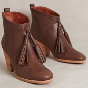 Rachel Comey Brown Leather Booties with Tassel 8.5